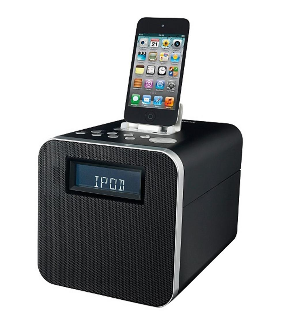 ipad polaroid clock radio docking station for ipod iphone ipad. Black Bedroom Furniture Sets. Home Design Ideas
