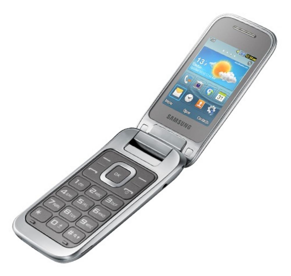 samsung gt c3590 flip mobile phone silver locked to o2. Black Bedroom Furniture Sets. Home Design Ideas