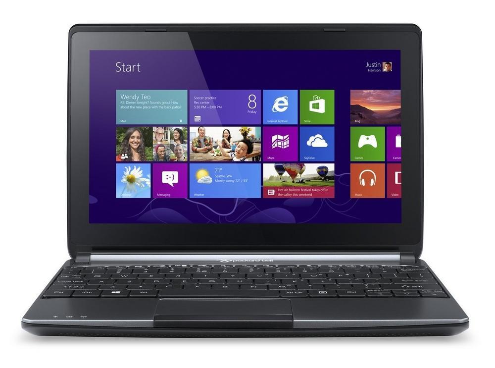 """Packard Bell Easynote 10.1"""" Touchscreen Notebook 320GB HDD 2GB RAM Windows 8.1"""