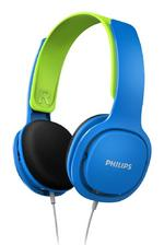 Philips SHK2000BL/00 Wired Over-Ear Kids Headphones with Volume Control - Blue
