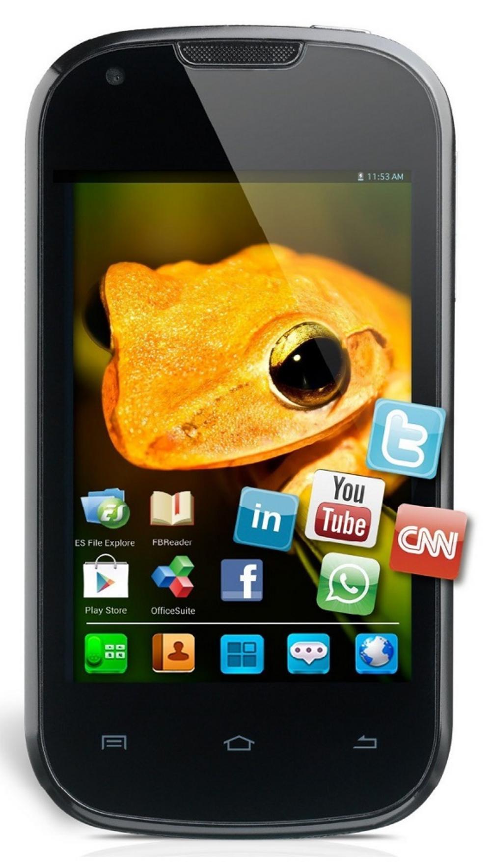 Yarvik Ingenia Compact 3G Dual Sim Touchscreen Smartphone Mobile Phone - Black