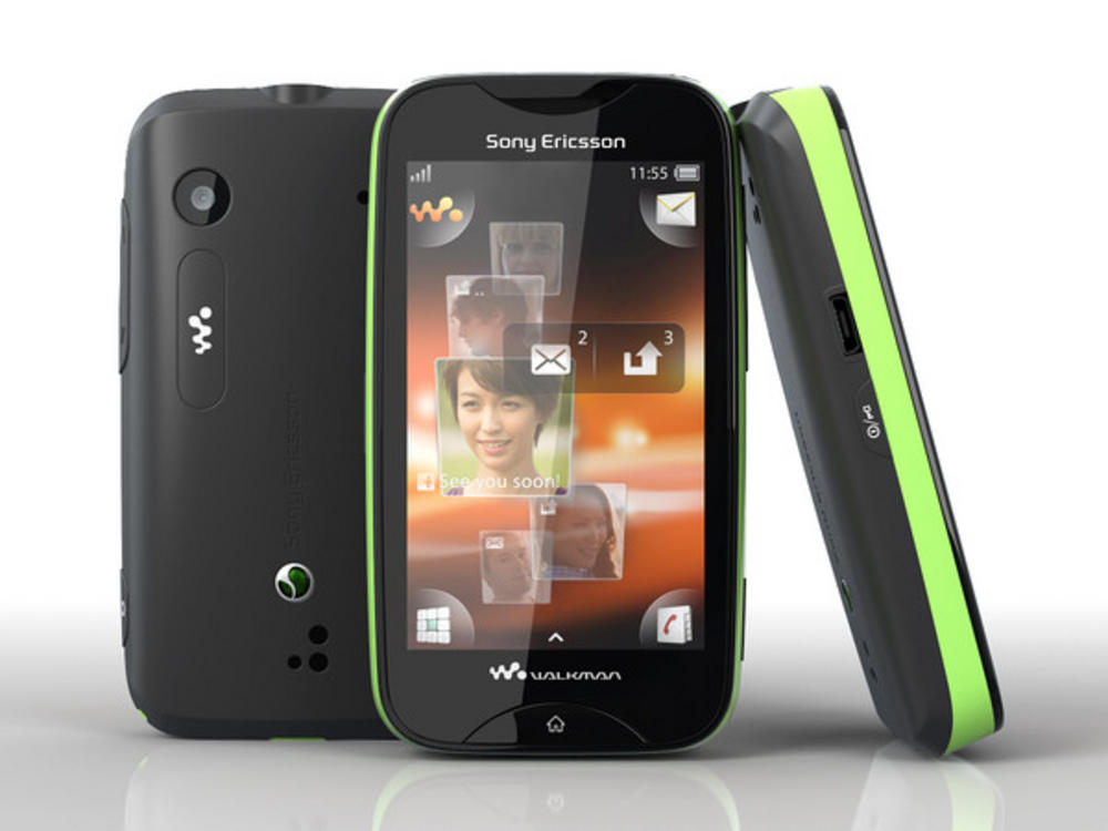 Sony Ericsson Walkman Mix WT13I Green On Black Unlocked Touchscreen Smartphone