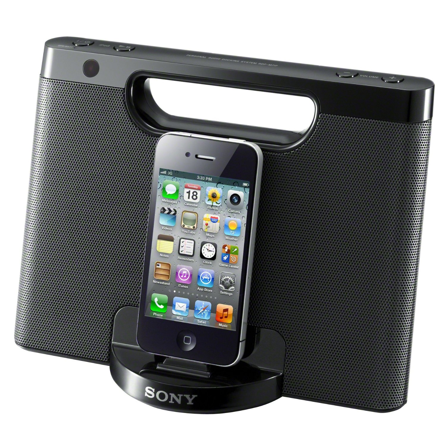sony rdpm7ip compact speaker audio dock for ipod iphone. Black Bedroom Furniture Sets. Home Design Ideas