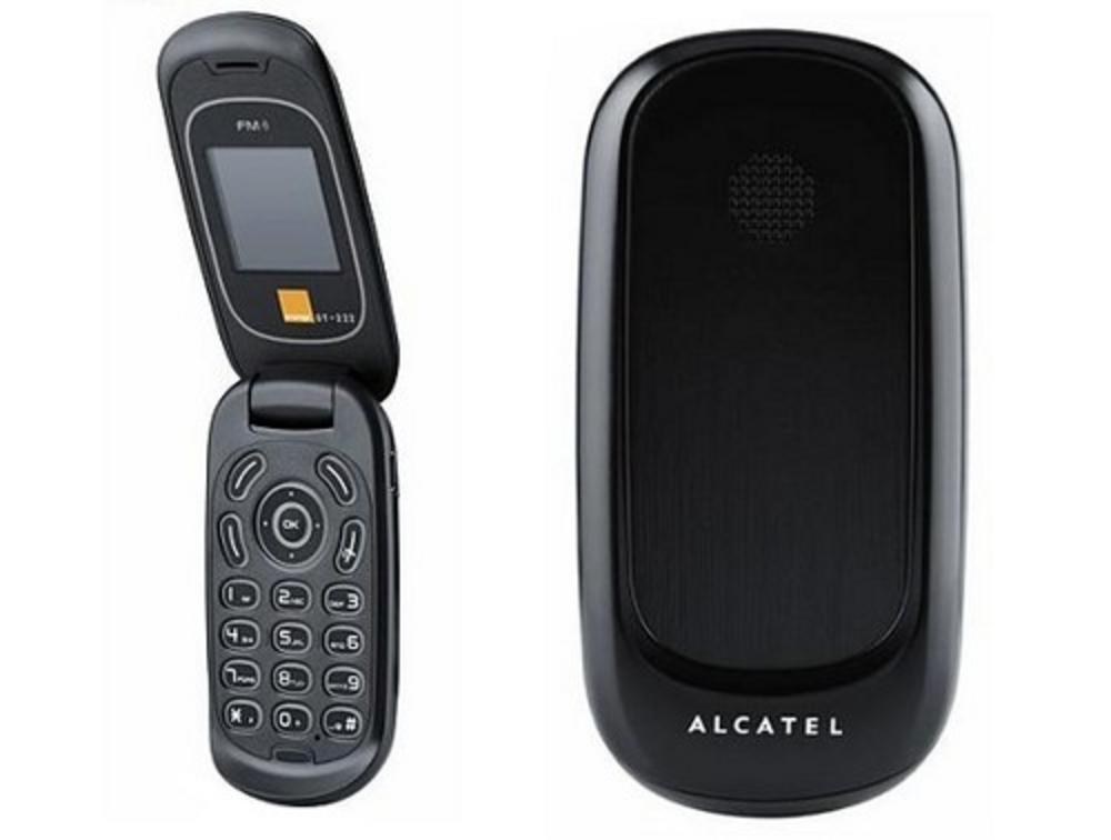 alcatel ot 222 black mobile phone flip phone unlocked fm radio. Black Bedroom Furniture Sets. Home Design Ideas