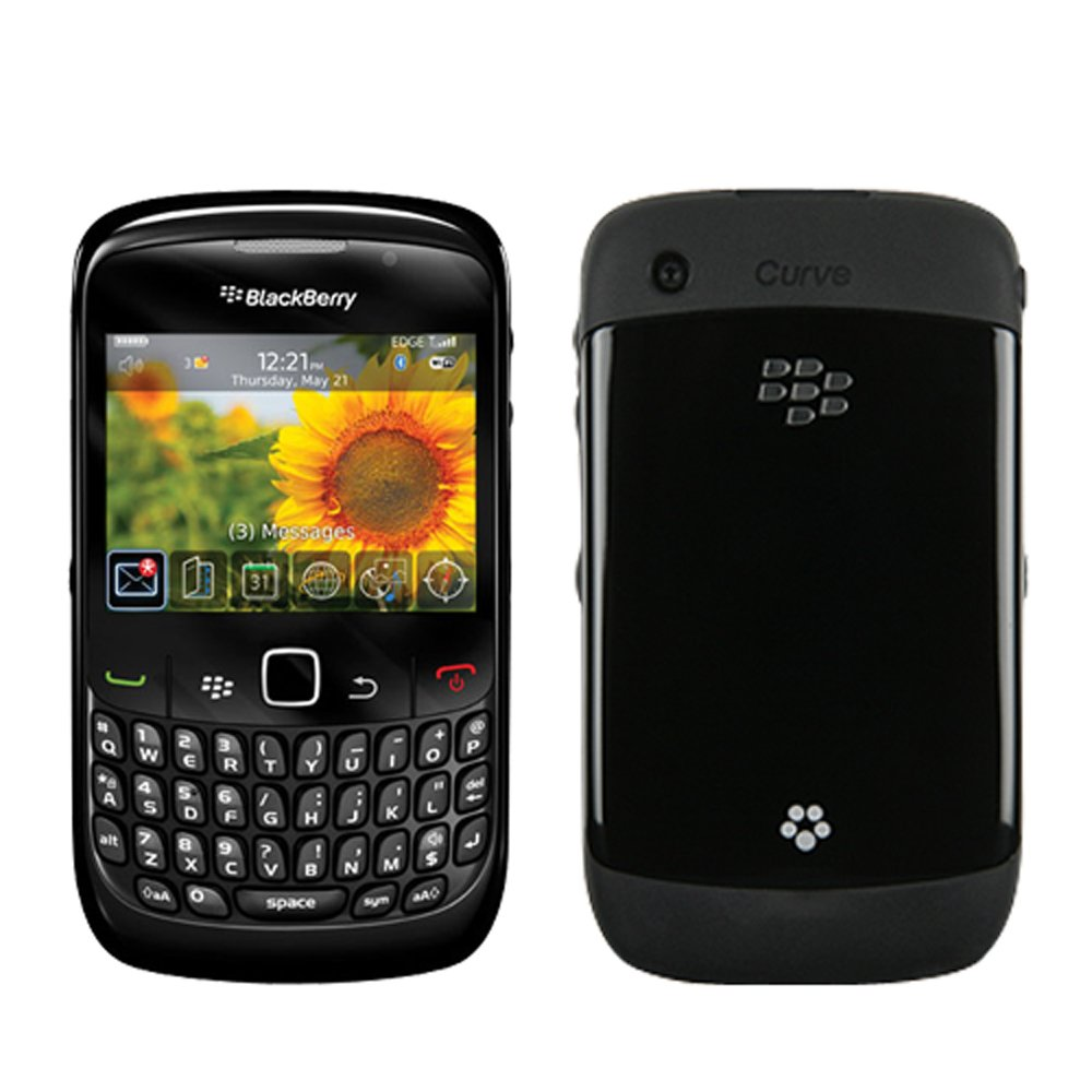 8520 Blackberry Curve 8520 Black Smartphone Mobile Phone Locked To Orange