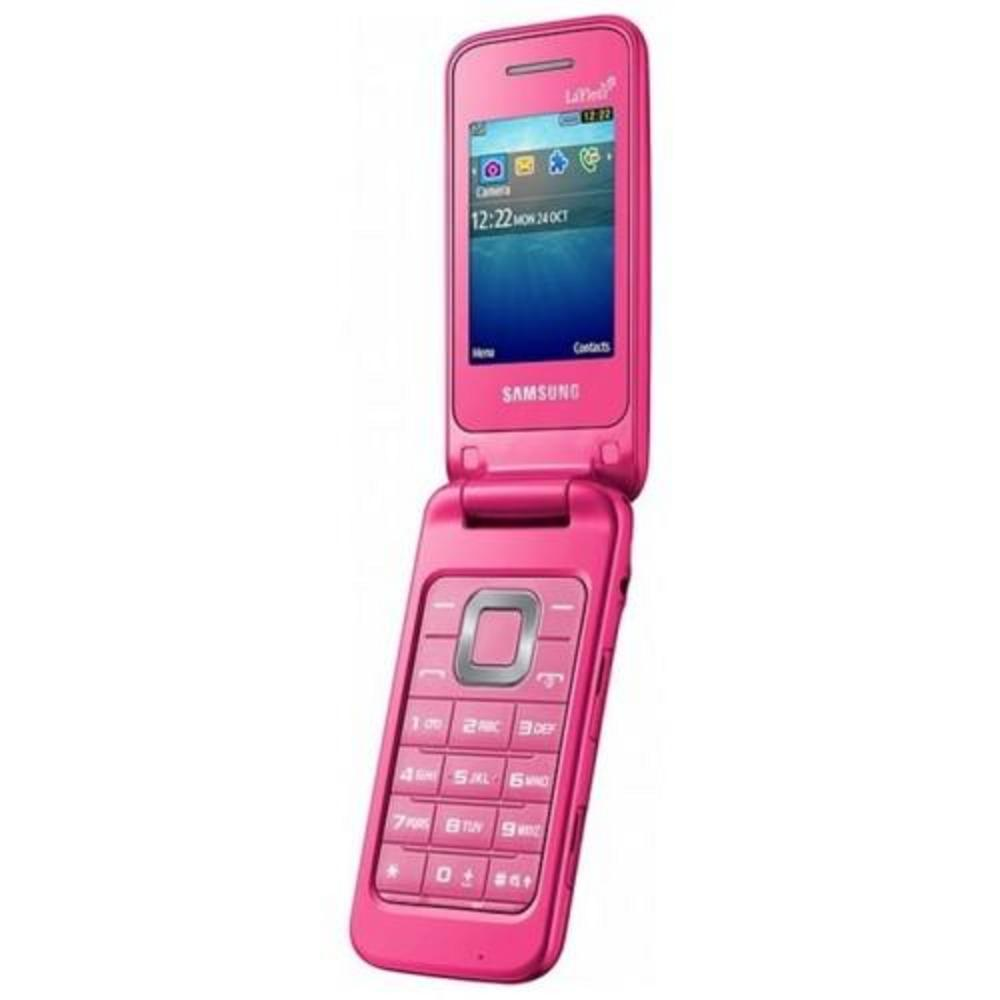 samsung gt c3520 mobile phone coral pink flip phone lafleur new. Black Bedroom Furniture Sets. Home Design Ideas