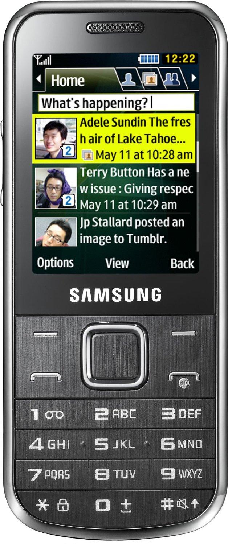 Samsung C3530 Chrome Silver & Black Mobile Phone (Locked to Tesco Mobile)