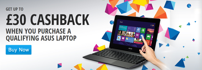 ASUS Cashback Promotion for March