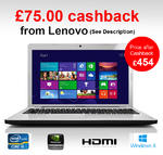 Lenovo Z580 M81KKUK 3rd Gen Gaming Laptop Core i5-3230M 8GB 1TB HDMI Windows 8