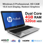 "HP ProBook Cheapest Laptop 4545s AMD A4-4300M 4GB 320GB 15.6"" DVDR HDMI USB 3.0"
