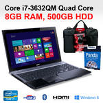 "Acer V3-571 Core i7 Laptop Intel 3632QM Quad Core 15.6"" 8GB 500GB 15.6"" HDMI DVD"