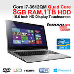 "Lenovo Z500 Touchscreen 59385090 intel Core i7-3612QM 8GB 1TB 15.6"" HD LED Win 8 Thumbnail 1"