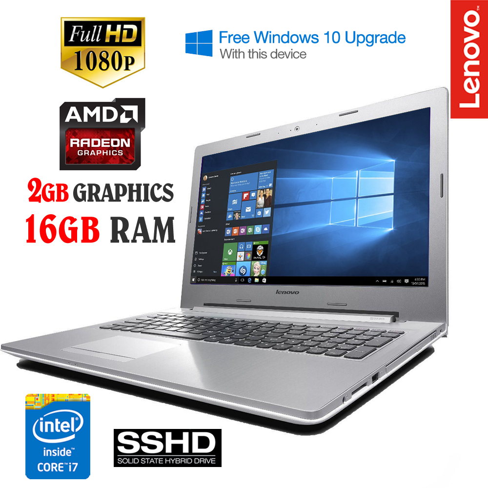 lenovo z51 70 15 6 full hd gaming laptop core i7 5500u 16gb ram 1tb 8gb sshd ebay. Black Bedroom Furniture Sets. Home Design Ideas