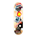 Plain Lazy Kids Uber Slacker Skateboard - Brown Black - 1318