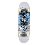 Plain Lazy Kids 5 Day Weekend Skateboard - Blue Black - 1319