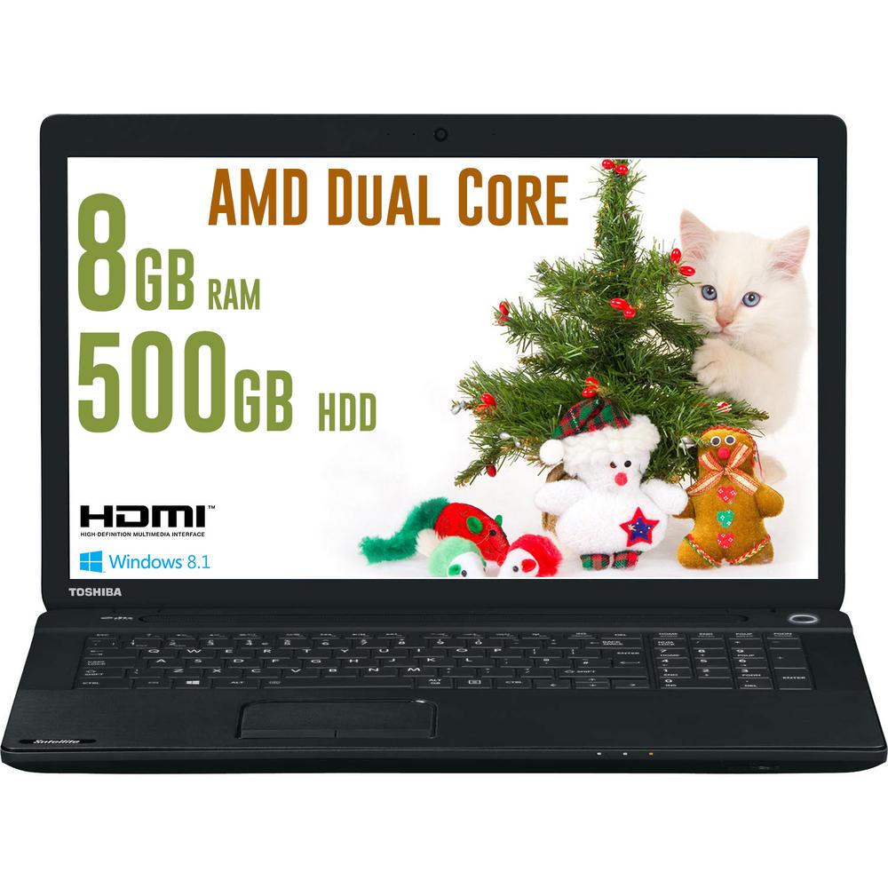 Toshiba C70D-A-111 17.3 inch Laptop AMD Dual Core E1-2100 8GB RAM