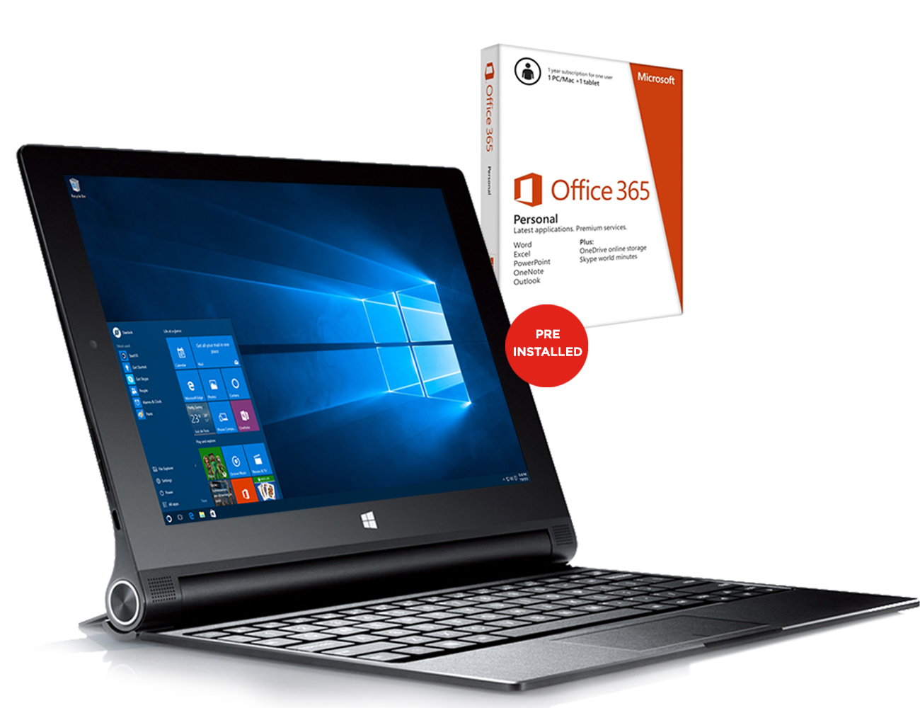 """Lenovo Yoga 2 10.1"""" Windows 8 Tablet Intel Atom Z3745 ..."""