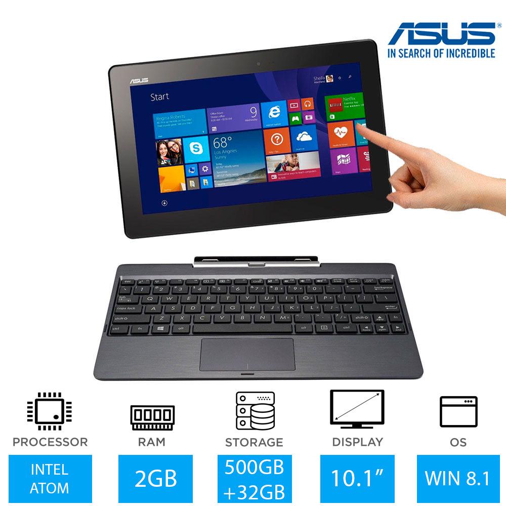 asus transformer book t100taf 2 in 1 laptop tablet intel atom 500gb 32gb win8. Black Bedroom Furniture Sets. Home Design Ideas
