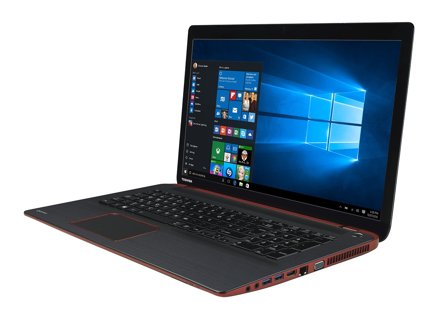 toshiba qosmio x70 b 10t 17 3 gaming laptop core i7 4720hq 16gb ram 1tb 8gb ssd ebay. Black Bedroom Furniture Sets. Home Design Ideas