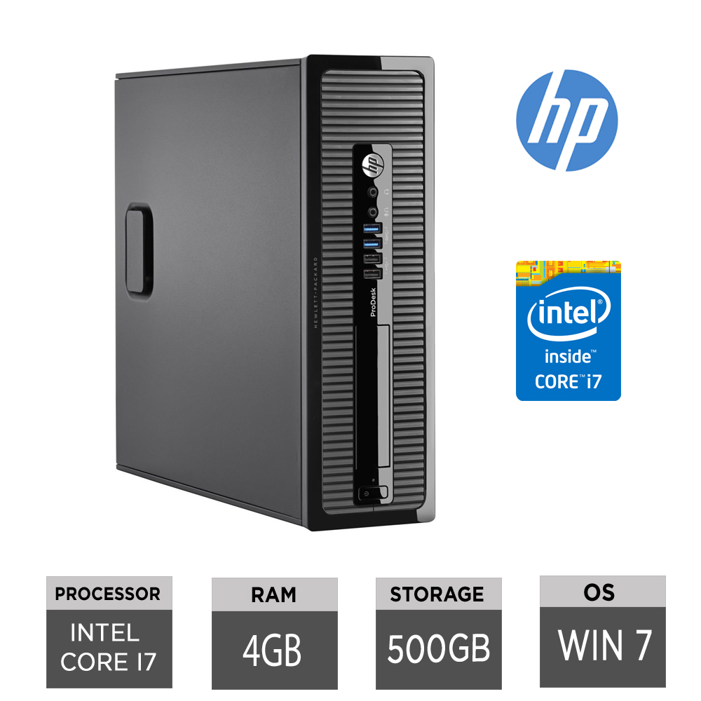 Hp Pro 400 Desktop PC Intel Core i7 @3 20GHz 8GB RAM 500GB