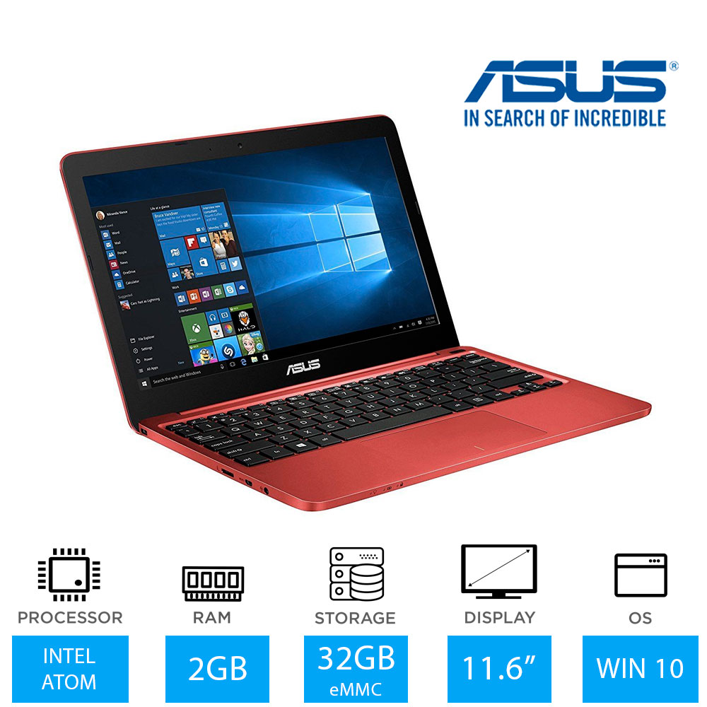 asus eeebook x205ta 11 6 light weight laptop intel atom z3735f 32gb windows 10. Black Bedroom Furniture Sets. Home Design Ideas