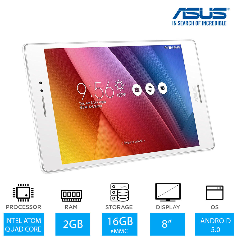 Asus Zenpad Z580c 8 Inch Quad Core Tablet Intel Atom Z3530