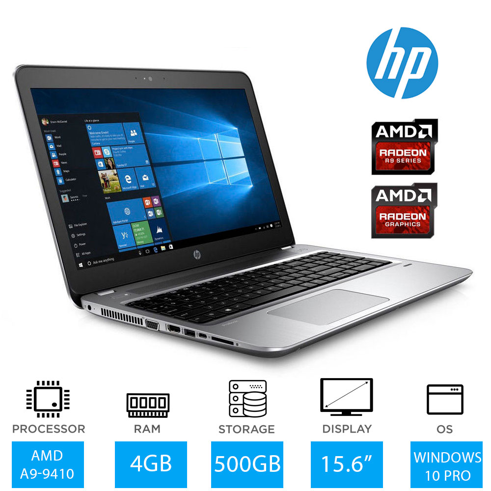 hp probook 455 g4 15 6 full hd business laptop amd a9