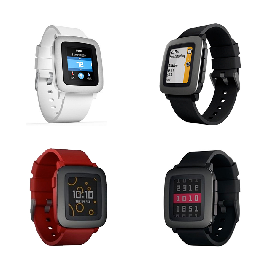 Pebble Time Smartwatch for Smartphone, Color E-paper ...