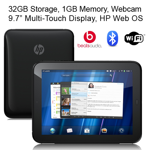 HP TouchPad 9.7 inch Tablet PC 32GB Dual Core 2GHz Processor WiFi BT Bundle
