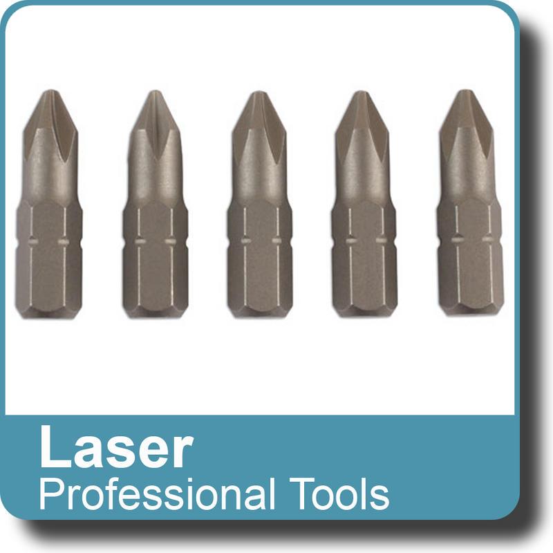 NEW Genuine LASER - Multifit Bit set S2 Steel x 25mm long 5pc Replacement  6059