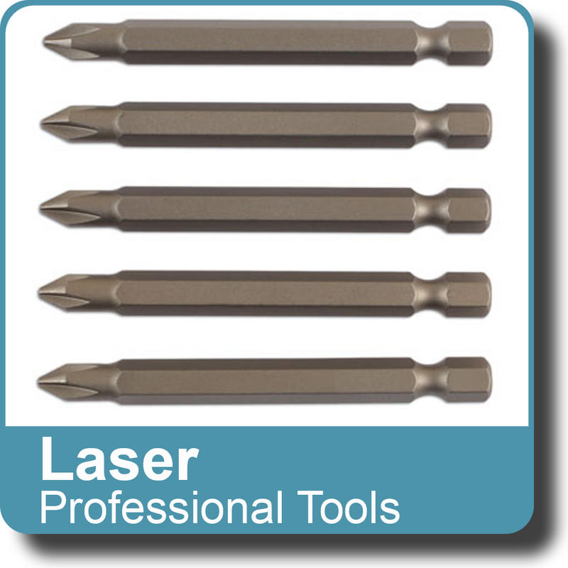 NEW Genuine LASER - Multifit Bit Set S2 Steel x 70mm long 5pc Replacement  6060