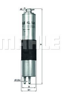 bmw e46 330i ci mahle fuel filter with pressure regulator. Black Bedroom Furniture Sets. Home Design Ideas