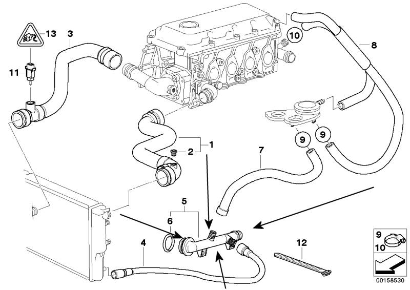 ebaytemplate_11531709232 e46 316i m43 coolant flange replacement info e46 air intake diagram at gsmportal.co