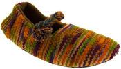 Ladies Kumfipumps Multicolour Knitted Ballerina Slippers Thumbnail 7