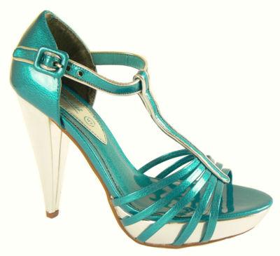 teal blue silver prom heels platform shoes ebay