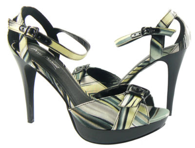 Ladies-Black-Multi-coloured-Platform-Stiletto-Ankle-Strap-Party-Heels-Shoes