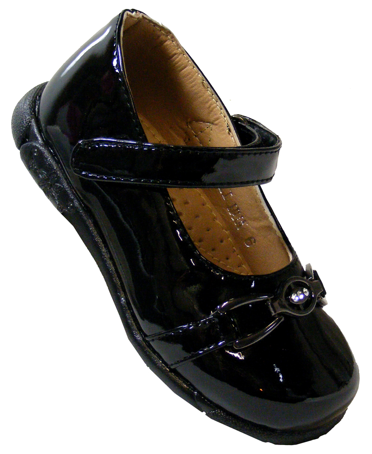 new toddler black patent childrens back to