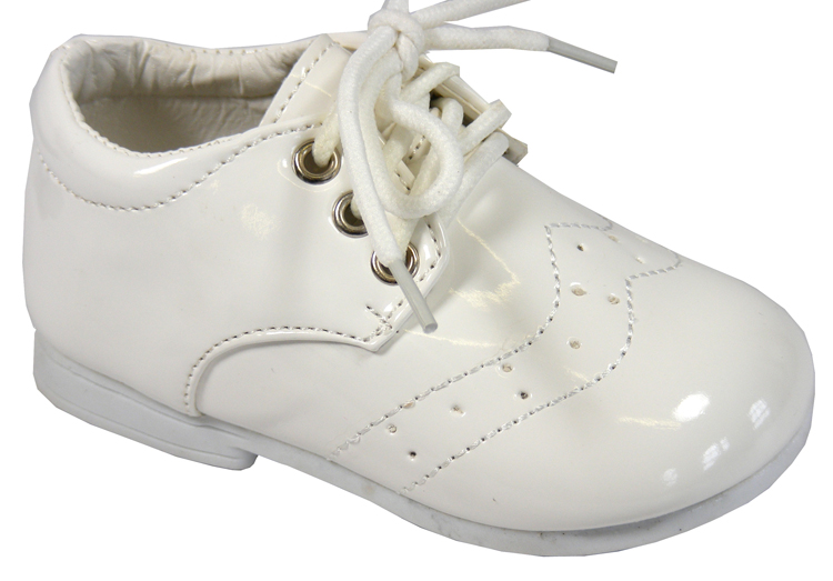 New Baby Toddler Boys White Laces Christening Wedding Shoes Sz Size 0