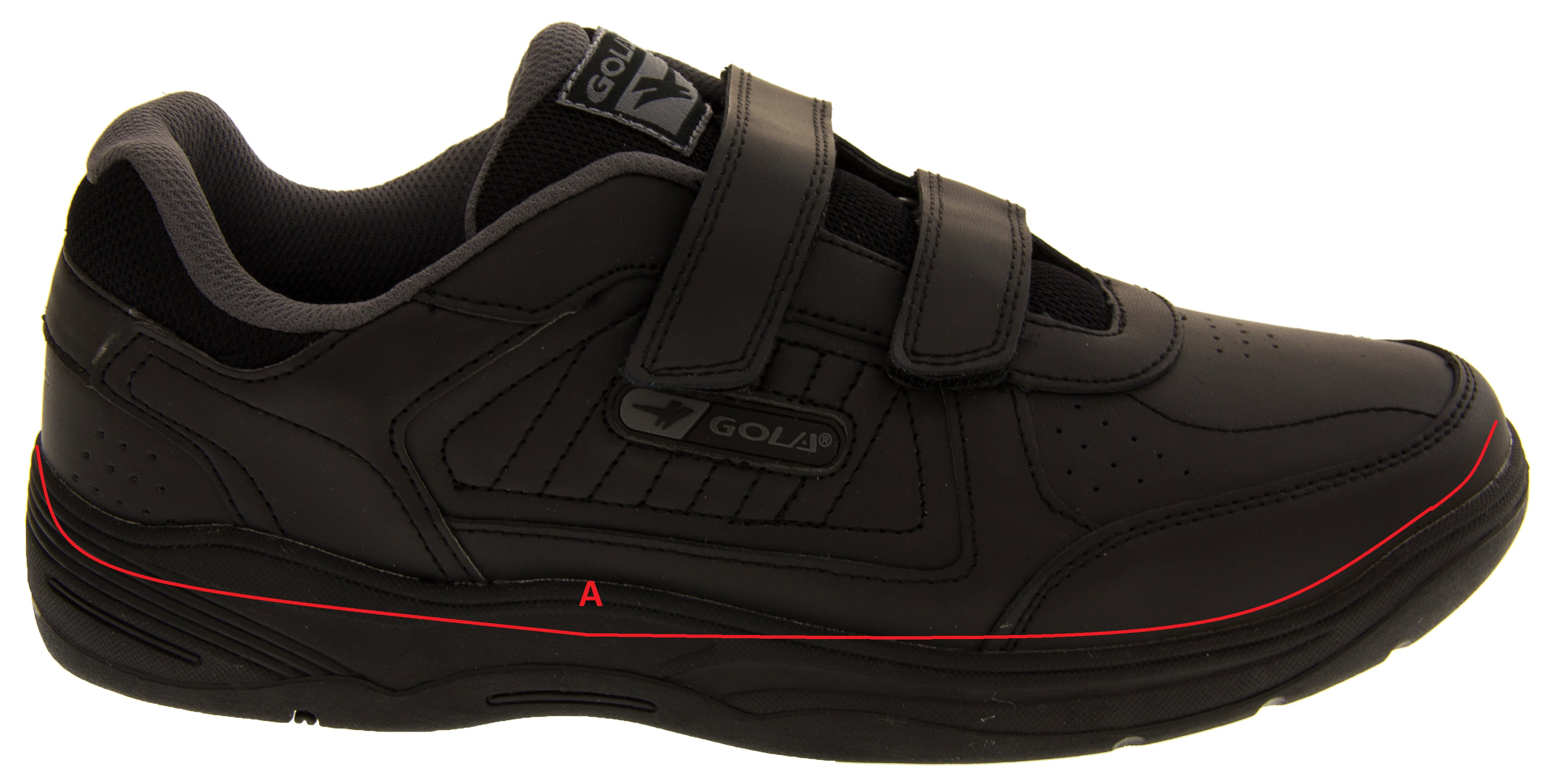 mens gola wide fit ee leather velcro trainers womens