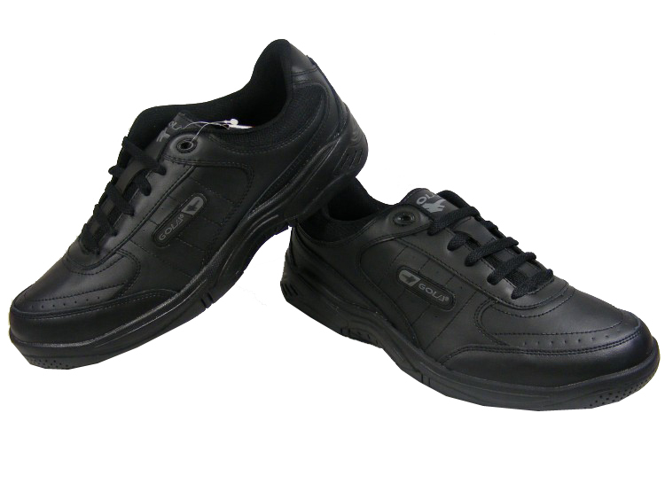 NEW-Mens-Black-GOLA-LEATHER-Retro-Sneakers-Flat-Trainers-Size-Sz-7-8-9-10-11-12