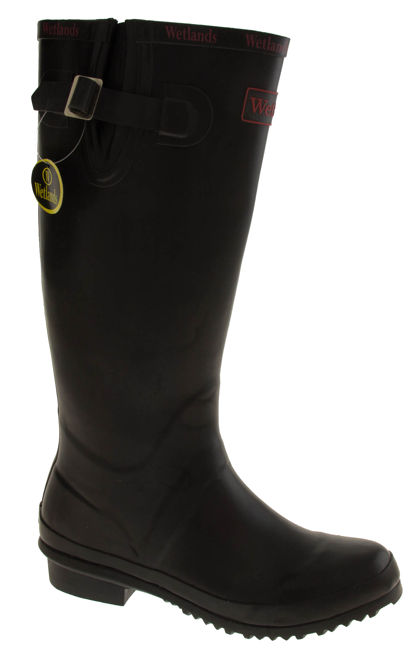 New women black wetlands knee high festival garden wellies for Garden boots for women