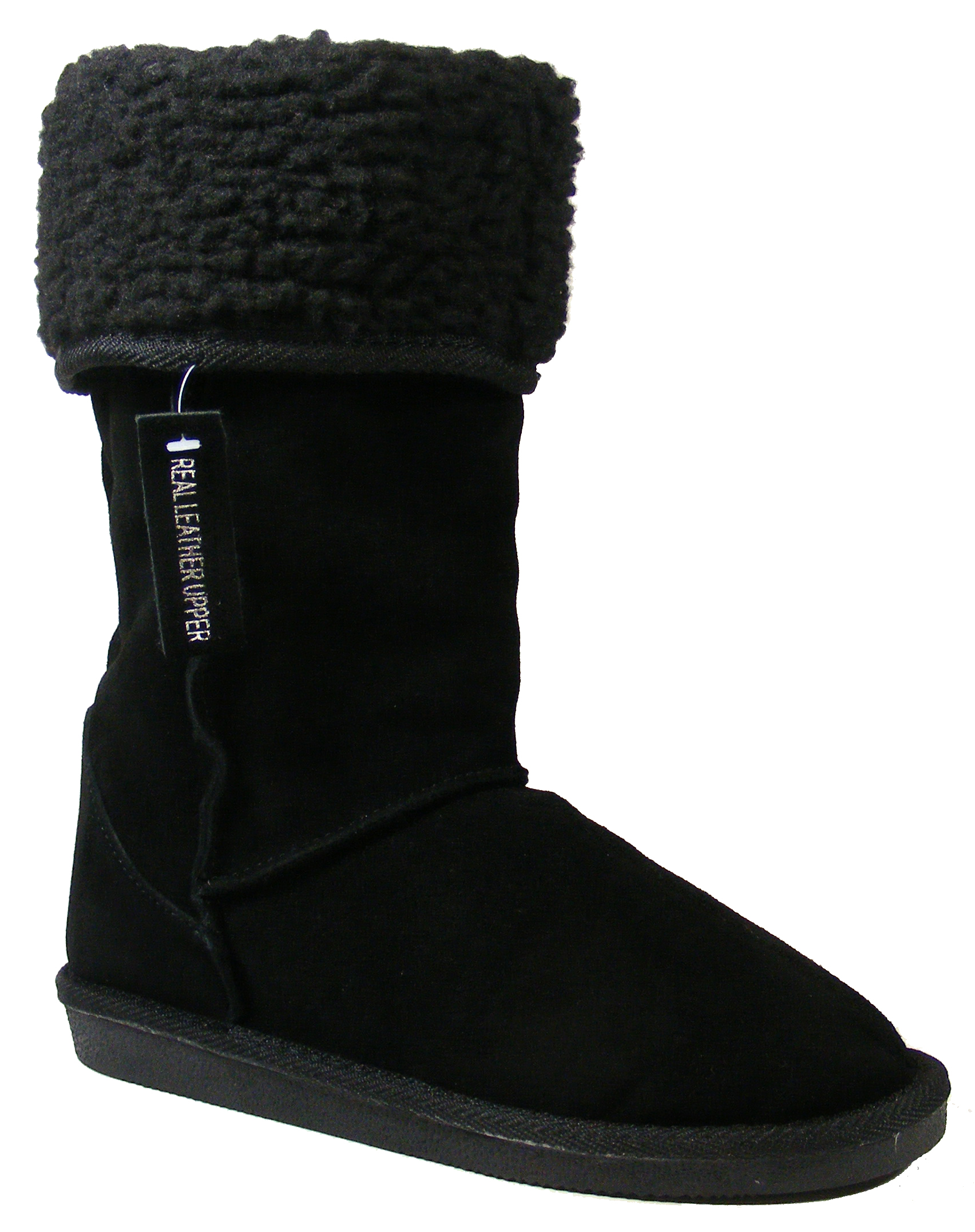new black leather dorothy perkins boot faux fur