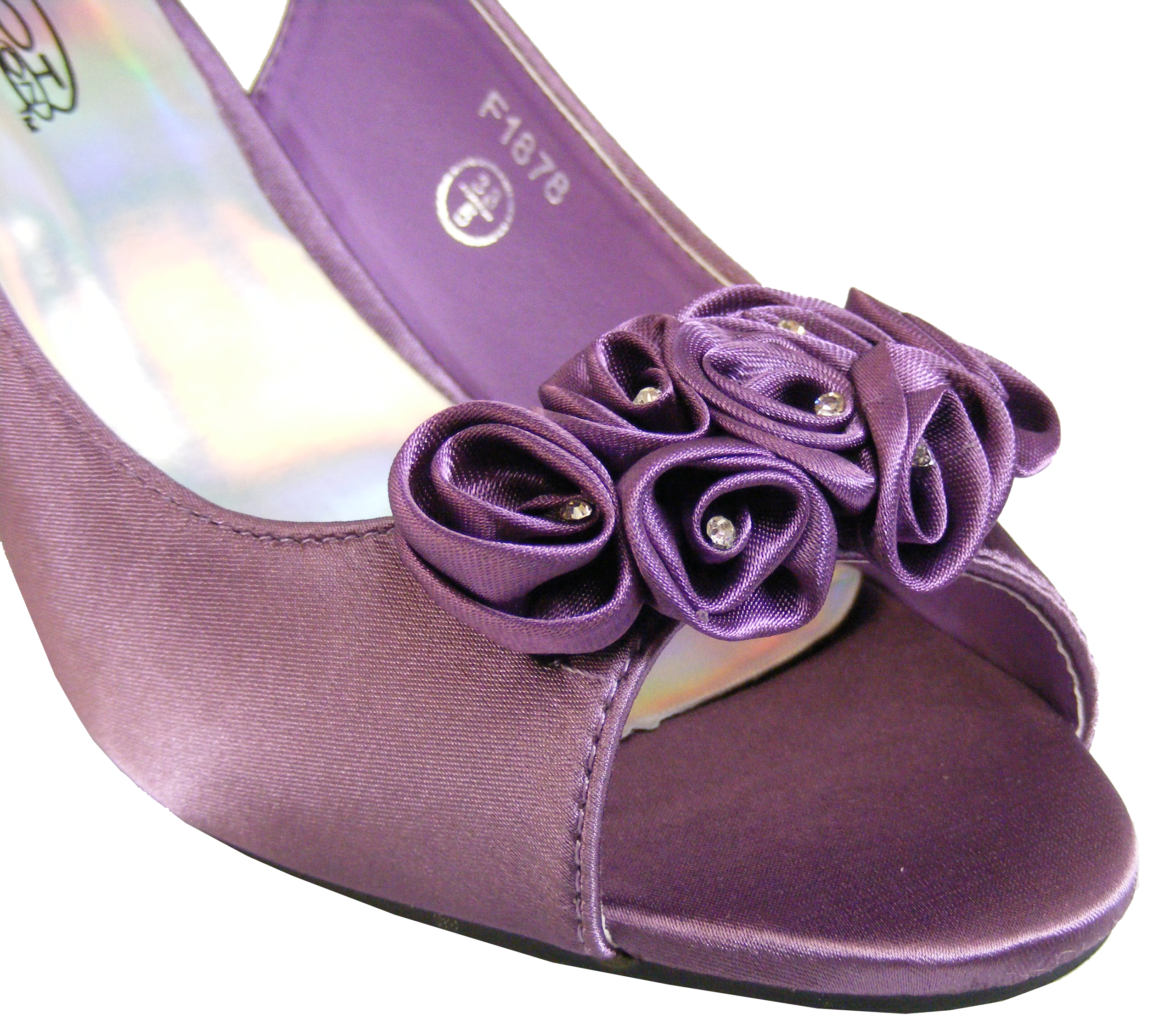 Purple Slingback Heels - Is Heel