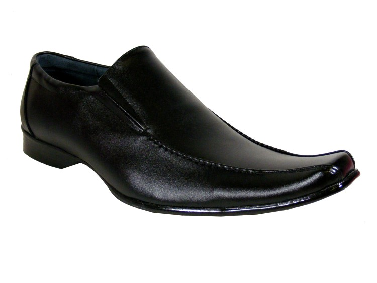 new mens black leather men casual loafer shoe men wedding