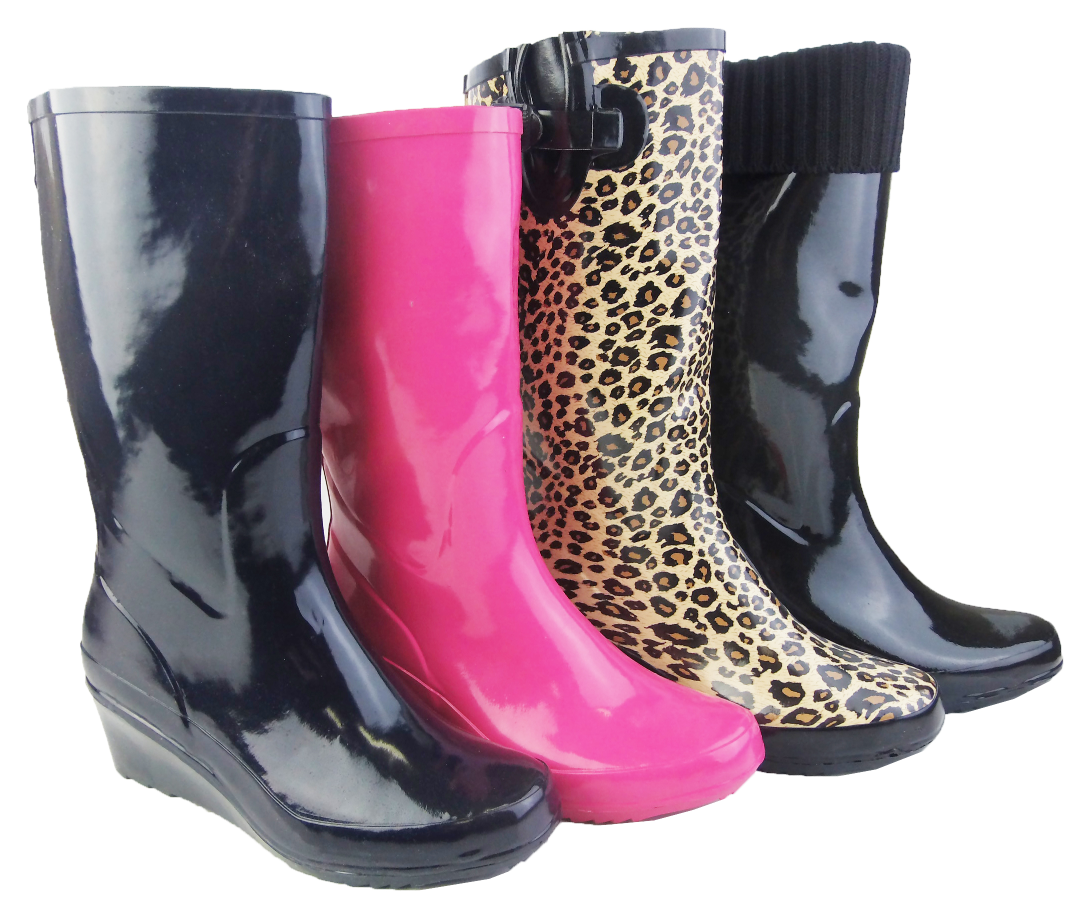 womens rain wellingtons wedge heels welly fashion wellies. Black Bedroom Furniture Sets. Home Design Ideas