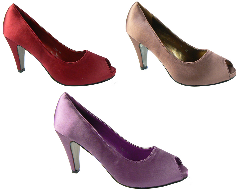 new womens bronze lilac court shoes wedding pumps prom