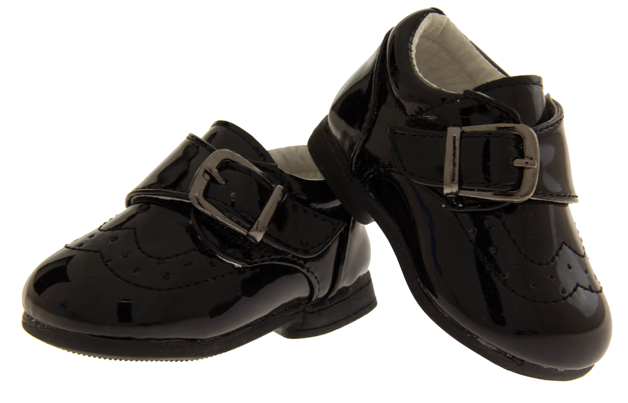 Velcro Buckle Shoes Baby Boy Infant Toddler Black Smart