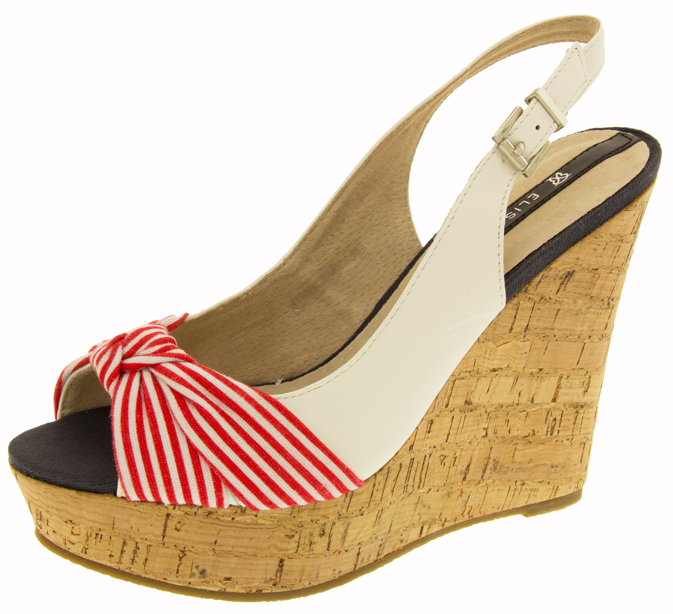 womens elisabeth wedge high heel sandals nautical