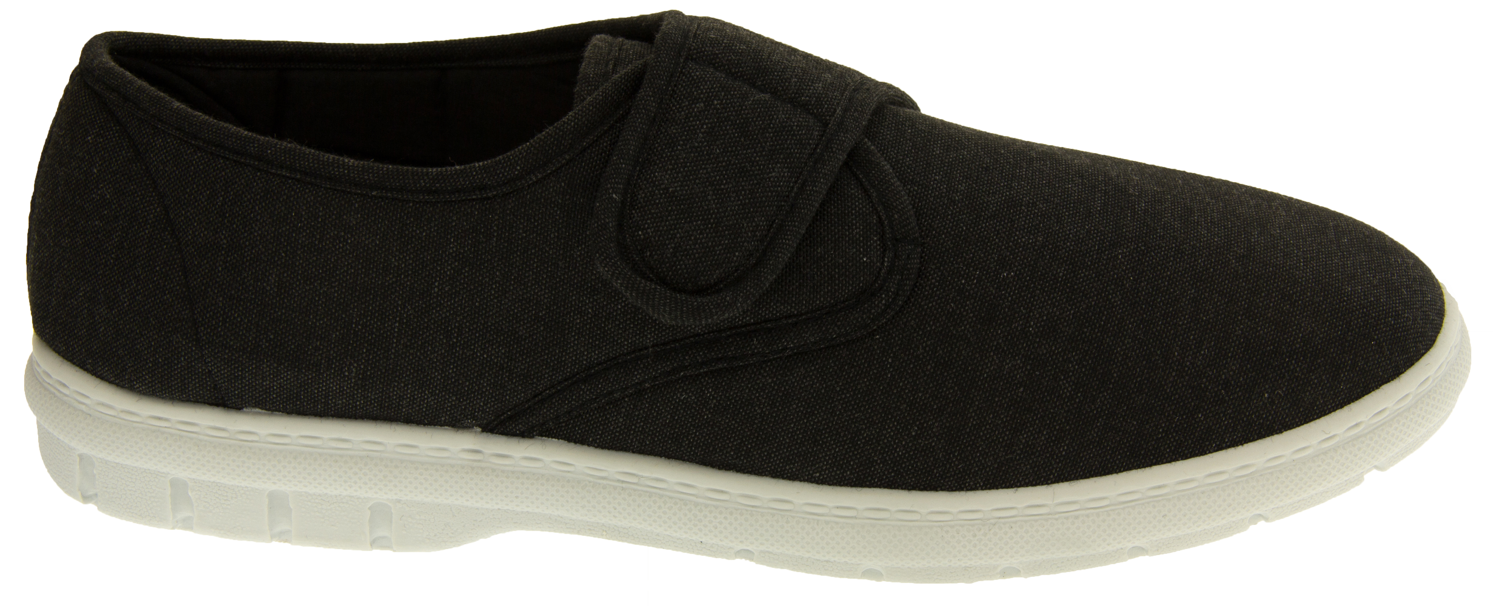mens velcro canvas trainers boys casual summer shoes new