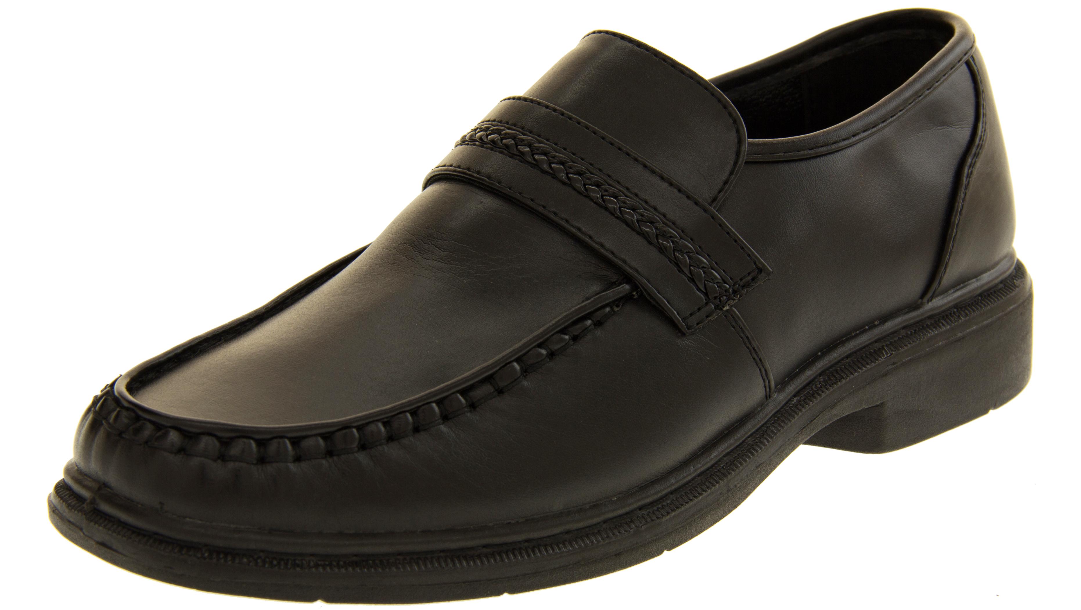 Boys School Shoes Slip Ons